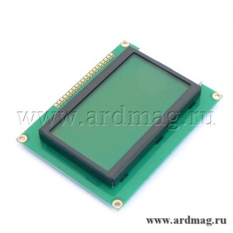 Дисплей LCD12864, зеленый