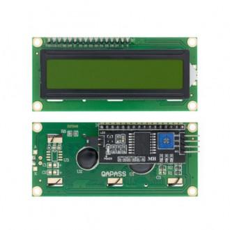 Дисплей LCD1602 с IIC/I2C, зеленый