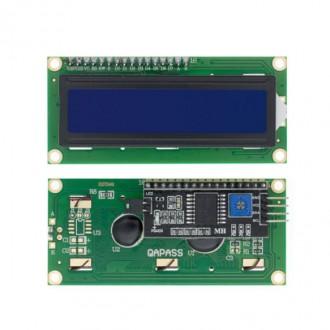 Дисплей LCD1602 с IIC/I2C, синий