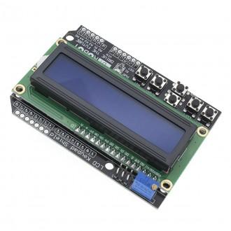 Display + Keypad Shield LCD1602, синий