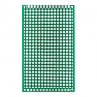 Двухсторонняя макетная плата для пайки 9*15см., зеленый