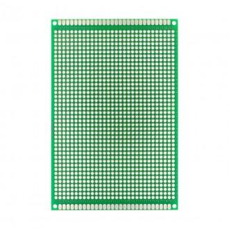 Двухсторонняя макетная плата для пайки 8*12см., зеленый