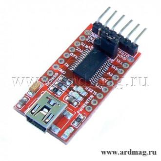 Конвертер USB-UART на чипе FT232RL, 3.3/5V
