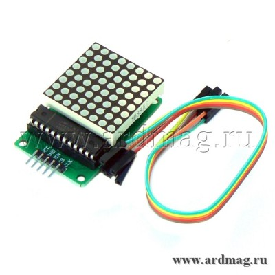 Светодиодная матрица 8х8 на базе MAX7219 DIP