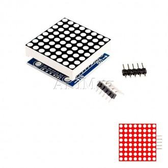 Светодиодная матрица 8х8 на базе MAX7219 SMD, красный
