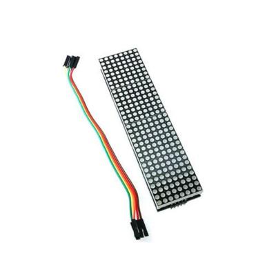 Модуль из 4 светодиодных матриц на базе MAX7219, красный