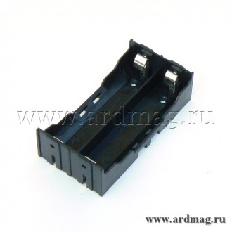 Батарейный отсек для аккумулятора 2x18650 для макетной платы