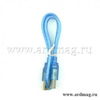 Кабель USB-A - USB-B 0.5м., синий