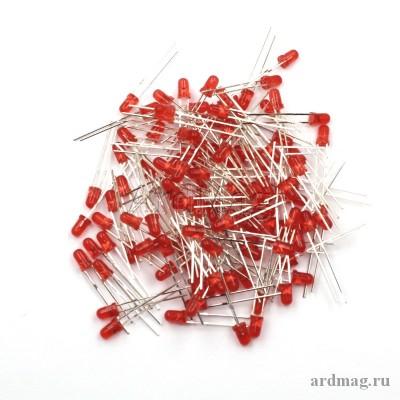 Светодиод 3мм., красный (100 штук)