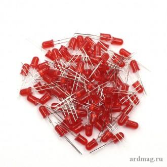 Светодиод 5мм., красный (100 штук)