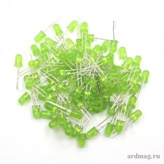Светодиод 5мм., зеленый (100 штук)
