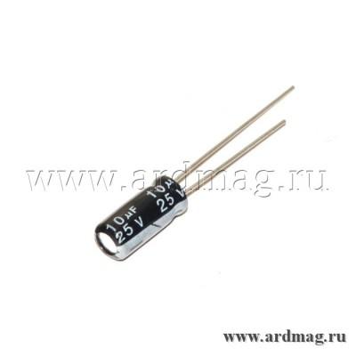 Конденсатор электролитический 25В/10мкФ