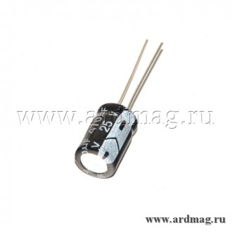 Конденсатор электролитический 25В/470мкФ