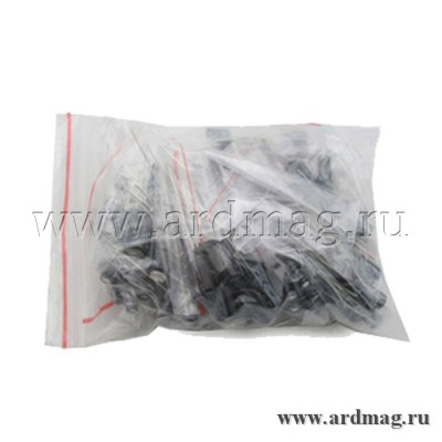 Набор электролитичеких конденсаторов 1мкФ-470мкФ 12 номиналов по 10 штук