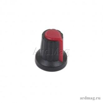 Ручка для потенциометра WH148 6мм., красный
