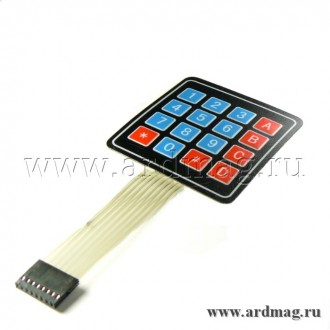 Гибкая цифровая клавиатура 4х4
