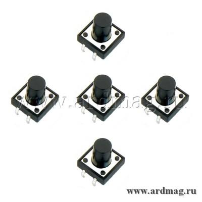 Кнопка тактовая 12х12х12мм. (5 штук)