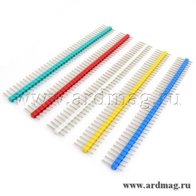 Набор штыревых соединителей 40pin, 5 цветов