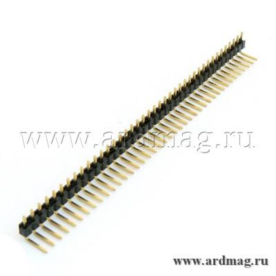 Штыревой соединитель угловой 40Pin, медь