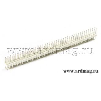 Двухрядный штыревый соединитель 2*40Pin, цвет белый