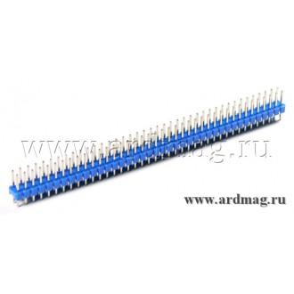 Двухрядный штыревый соединитель 2*40Pin, цвет синий