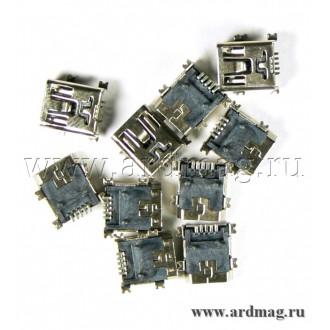 Разъем Mini-USB для поверхностного монтажа