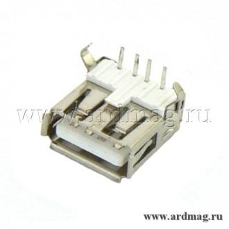Разъем USB-A для монтажа на плату