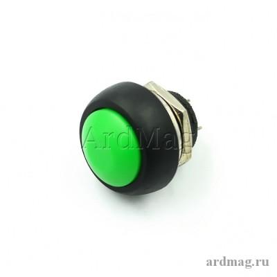 Кнопка PBS-33B 12мм для монтажа в корпус, зеленый