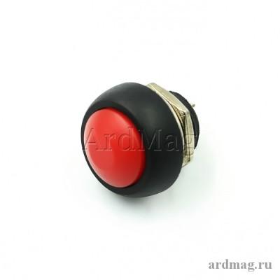 Кнопка PBS-33B 12мм для монтажа в корпус, красный