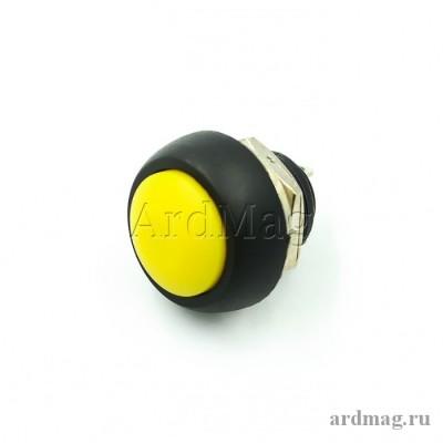 Кнопка PBS-33B 12мм для монтажа в корпус, желтый