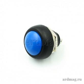 Кнопка PBS-33B 12мм для монтажа в корпус, синий