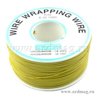 Провод для пайки (бобина) 250м. D проводника 0.203мм, желтый