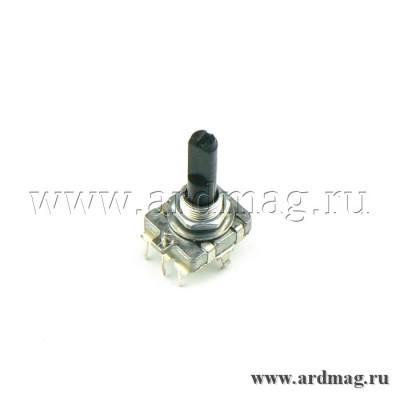Энкодер EC16 25мм (D-образный вал, 24 положения)