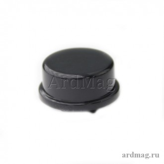 Колпачок для тактовой кнопки 12*12*7.3мм, черный