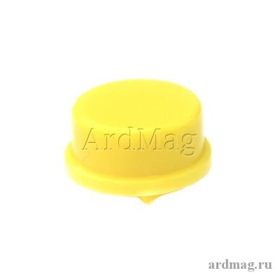 Колпачок для тактовой кнопки 12*12*7.3мм, желтый