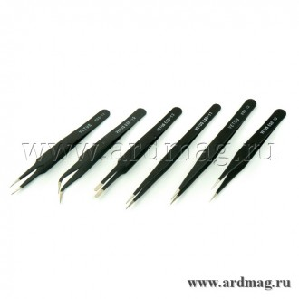 Набор пинцетов ESD10-15 6 штук