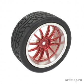 Колесо 65 мм K6, красный