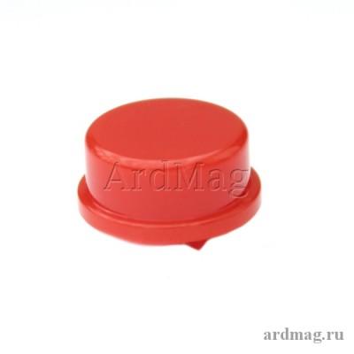 Колпачок для тактовой кнопки 12*12*7.3мм, красный
