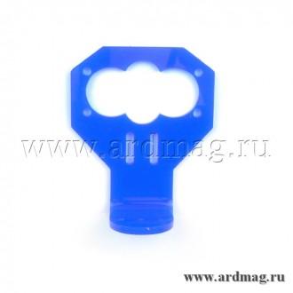Держатель для датчика HY-SRF05/HC-SR04, синий