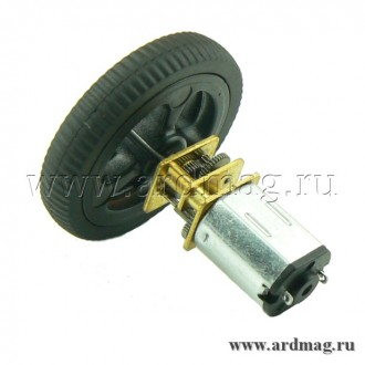 Колесо на мотор-редуктор N20 34*7мм, черный
