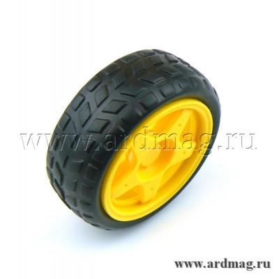 Колесо 65 мм D1S, желтый