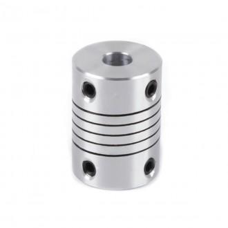Компенсирующая алюминиевая соединительная муфта D19L25 8*10мм.