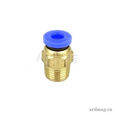 Фитинг PC4-M10 для тефлоновой трубки 4мм, латунь