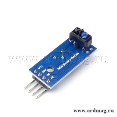 Модуль слежения на базе TCRT5000, аналоговый и цифровой пороговый