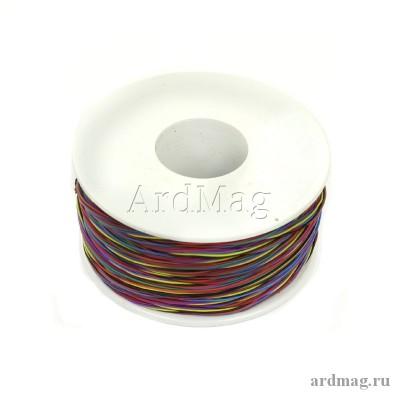 Провод для пайки 30AWG (бобина) 265м. D проводника 0.25мм, многоцветный