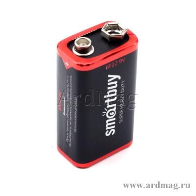 Батарейка солевая крона Smartbuy 6F22/1S