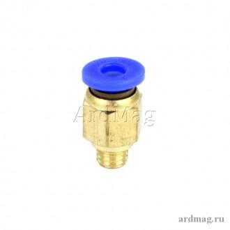 Фитинг PC4-M6 для тефлоновой трубки 4мм, латунь