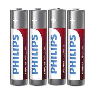 Батарейка Philips ААА LR03 1.5В Power Alkaline, 4 шт.