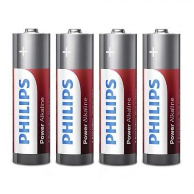 Батарейка Philips АА LR6 1.5В Power Alkaline, 4 шт.