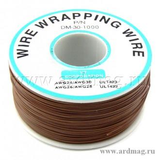 Провод для пайки (бобина) 250м. D проводника 0.203мм, коричневый